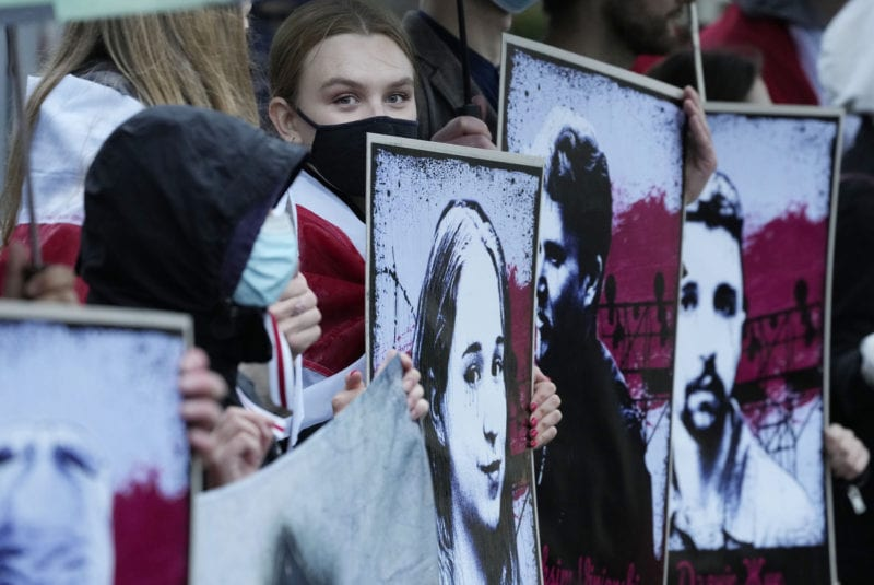 La situation des droits humains continue de s'aggraver en Biélorussie. [Czarek Sokolowski - AP]