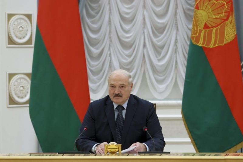 Le président biélorusse Alexandre Loukachenko durant une réunion à Minsk