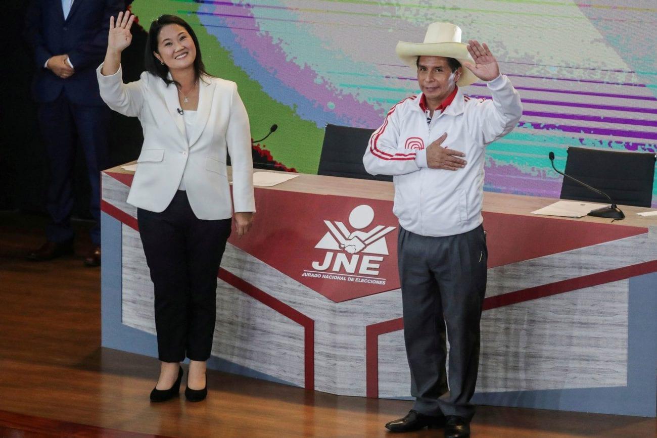 Keiko Fujimo et Pedro Castillo s'affrontent au 2e tour de la présidentielle au Pérou. [Sebastian Castaneda/Pool - Reuters]