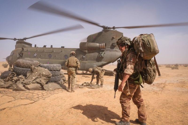 Un soldat français lors de l'opération Barkhane en avril 2021. [Hans Lucas - AFP]