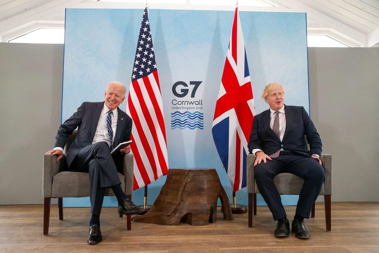 Le président américain Joe Biden a rencontré son homologue britannique Boris Johnson pour son premier voyager à l'étranger depuis sa prise de fonction. [Hollie Adams - Keystone ]