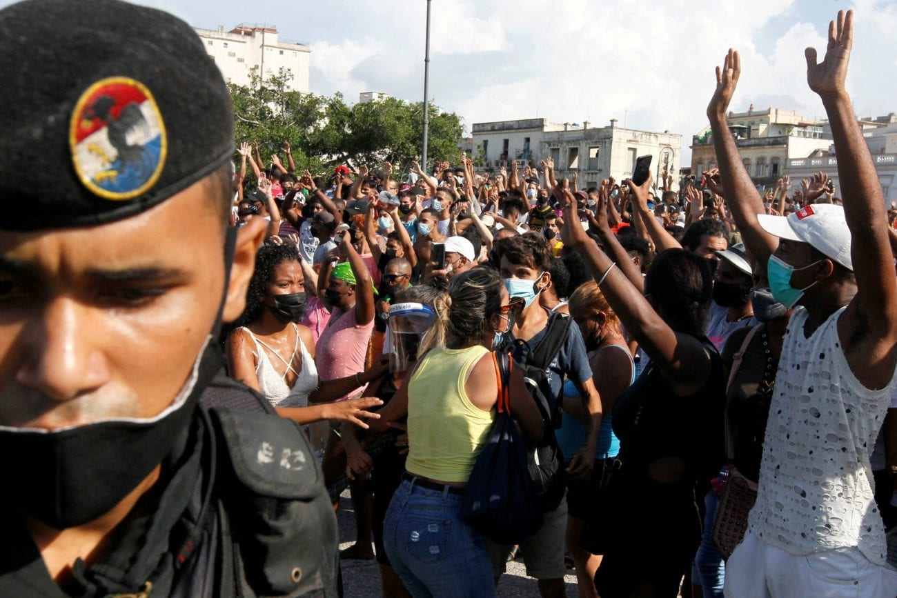 Le bilan des manifestations à Cuba se solde à un mort et plus de 100 arrestations. [Stringer - Reuters]