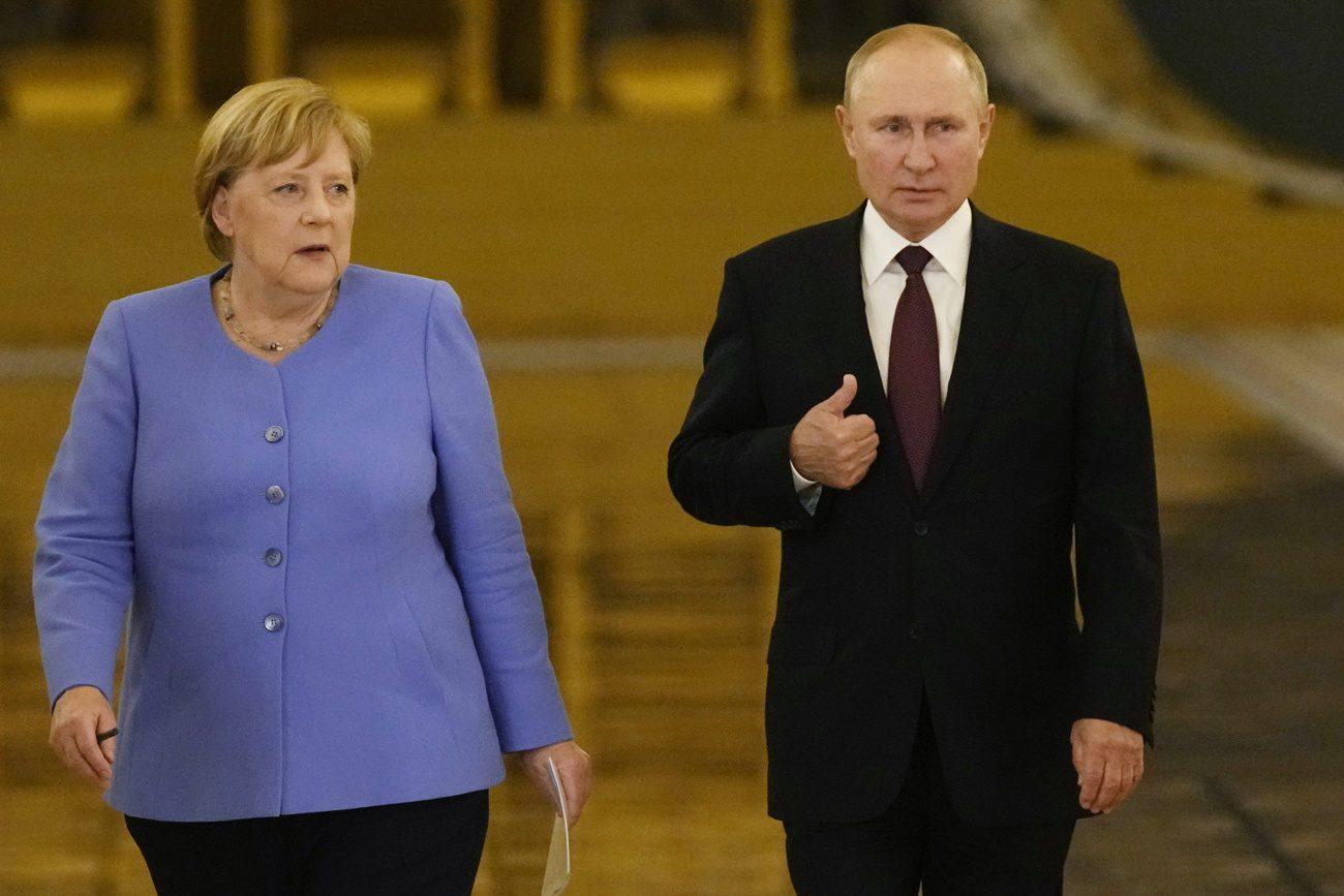 Angela Merkel et Vladimir Poutine au Kremlin