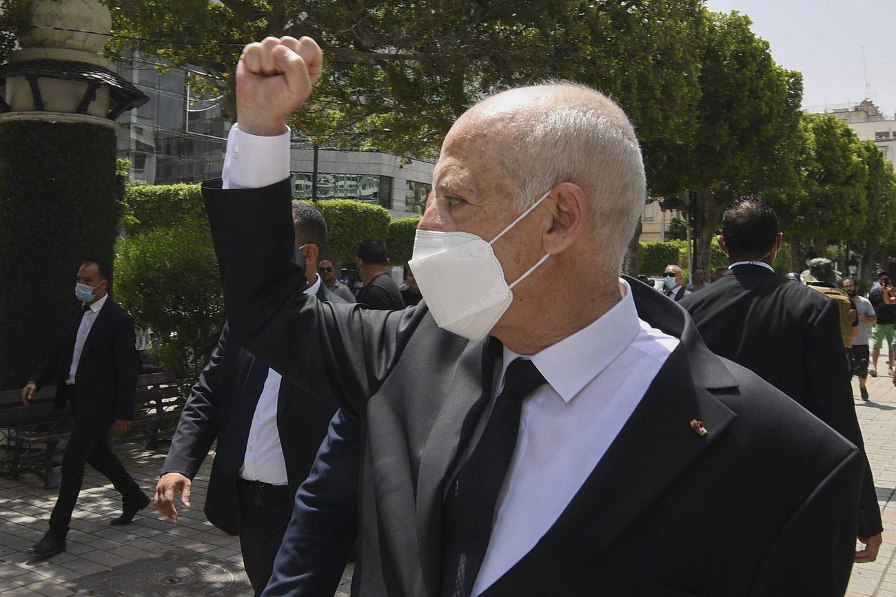 Le président Kaïs Saïed prolonge le gel du Parlement en Tunisie jusqu'à nouvel ordre. [Slim Abid - Keystone]