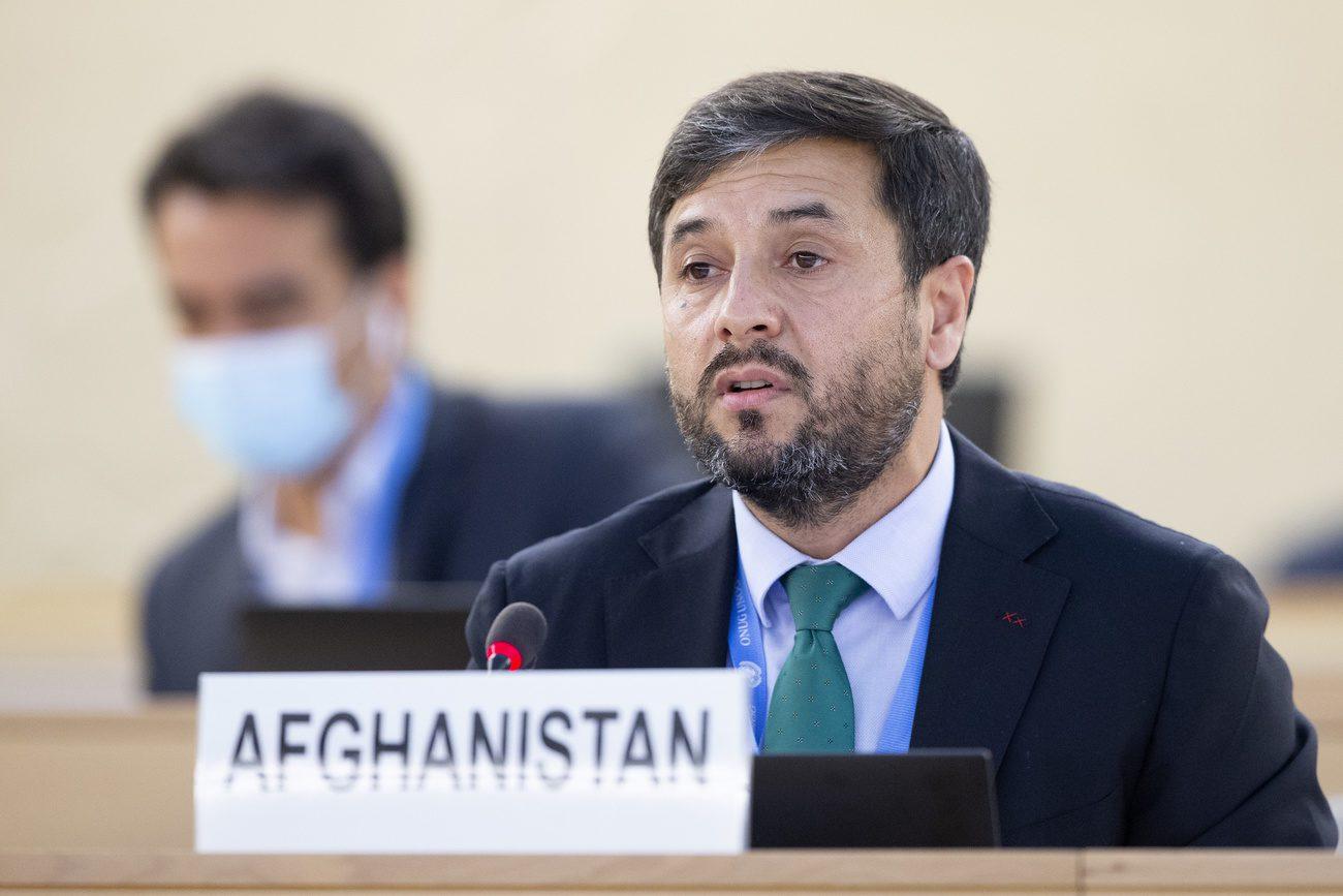 L'ambassadeur d'Afghanistan en Suisse Nasir Ahmad Andisha
