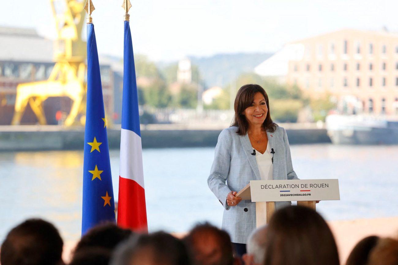 La maire de Paris Anne Hidalgo officialise sa candidature présidentielle pour 2022. [Thomas Samson - AFP]