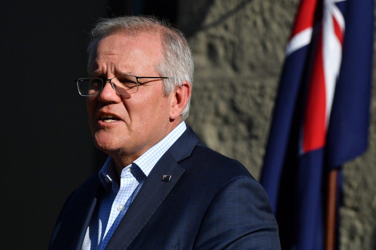 Le Premier ministre australien Scott Morrison dément avoir menti à la France dans le cadre de la rupture du contrat d'achat de 12 sous-marins militaires français. [Joel Carrett - Keystone/EPA]